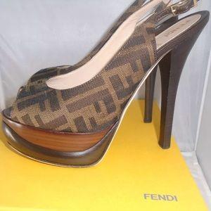 **AVAILABLE*** Authentic Fendi monogram heels
